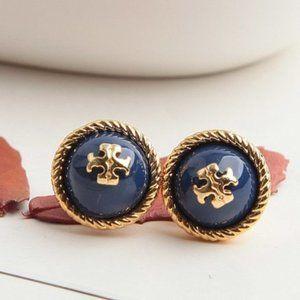 Tory Burch Rope Faux-Pearl Stud Earrings